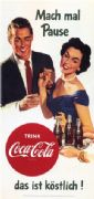 Vintage Coca Cola Advertising Poster c.1956